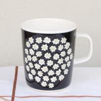 マリメッコ marimekko <Puketti>マグカップ(ブラック)日本別注