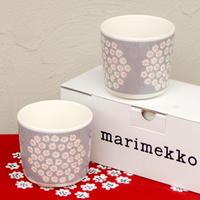 マリメッコ marimekko <Puketti>コーヒーカップ2個セット(グレー)日本限定