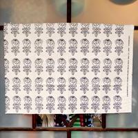 マリメッコ marimekko <Vihkiruusu>コットン&リネン・ファブリック(グリーン×サンド)50×73cm 日本限定