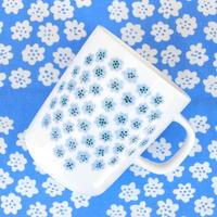 マリメッコ marimekko <Puketti>マグカップ(ホワイト×水色)日本限定