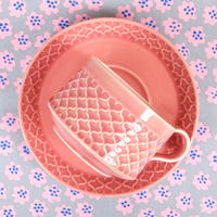 ビング・オー・グレンダール Bing&Grondahl コーディアル・パレット カップ&ソーサー(ピンク)レア