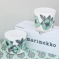 マリメッコ marimekko <Kestit>コーヒーカップ2個セット(ミントグリーン)日本限定&販売店限定