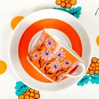 ロールストランド Rorstrand パルマ カップ&ソーサー(b) オレンジ