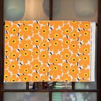 マリメッコ marimekko <Mini Unikko>キャンバス・ファブリック(オフホワイト×オレンジ)50×76cm 日本未入荷