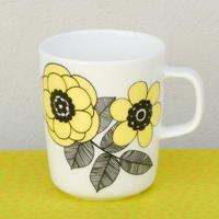 マリメッコ marimekko <Kestit>マグカップ(ライトイエロー)日本限定カラー