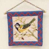 ツヴィスト刺繍 タペストリー(鳥・小)D