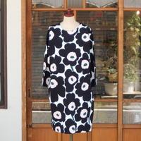 マリメッコ marimekko <Pieni Unikko>七分袖ワンピース(ジャージー)大きいサイズ