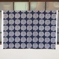 マリメッコ marimekko <Puketti>ファブリック(ネイビー×ピンク)50cm