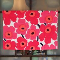 マリメッコ marimekko <Pieni Unikko>フリース・ファブリック(ピンク)50×72cm 日本未入荷