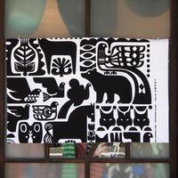 マリメッコ marimekko <Kanteleen Kutsu>キャンバス・ファブリック(ホワイト×ブラック)50×78cm 日本未入荷
