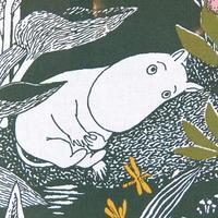 ムーミン Moomin ファブリック(グリーン)新品 1m