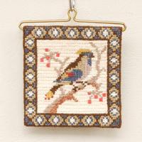 ツヴィスト刺繍 タペストリー(鳥・小)A