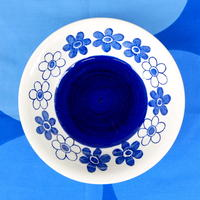 ロールストランド Rorstrand アネモン スープ皿(ブルー)