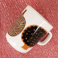 マリメッコ marimekko <Kompotti>マグカップ(ホワイト×ブラウン)