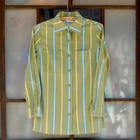 マリメッコ marimekko ヴィンテージ ストライプシャツ(オリーブグリーン)