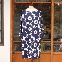マリメッコ marimekko <Pieni Unikko>七分袖ワンピース 大きいサイズ