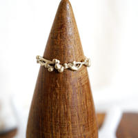 plant line ring 2 - gold