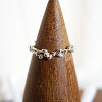 plant line ring 2 - silver
