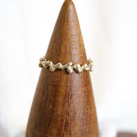 plant line ring - gold