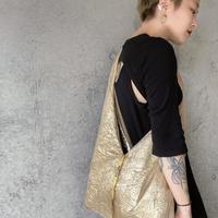 RIBBON BAG  / BEIGE ORENGE🟠×GOLD🟡