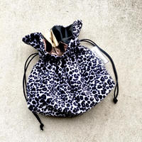 ANIMAL  BAG / LEOPARD ( black &  white )🐄