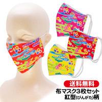 紅型(びんがた)柄 大人用布マスク3色セット