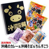 沖縄石垣黒毛和牛ビーフカレー1個 沖縄そば2個 ちんすこう3種類×6袋 お試しセット