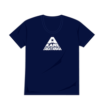 オーガニックコットンUネックシャツ(ネイビー)