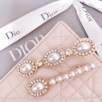 Lady pearl clip set