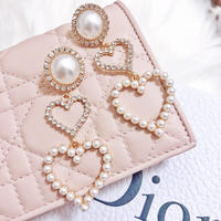 2heart pearl pierce(No.31002)