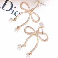 pearl ribbon pierce(No.31004)