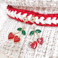 Hearty red cherry pierce