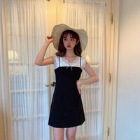 【再入荷】simple black cami op CL023