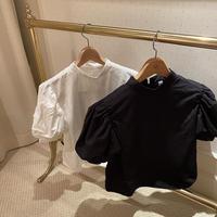 【再入荷】puff sleeve high neck blouse   CL003