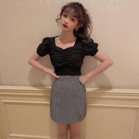 【再入荷】puff sleeve shirring blouse CL021