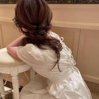 【再入荷】Back ribbon puff sleeve op  CL017