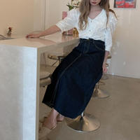 【再入荷】summer flare denim skirt CL024