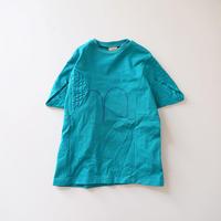 ウフヌフ青の三角袖ワンピース (wafflish waffle) 120~140cm