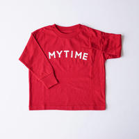 MY TIME L/S TEE RED (ARCH&LINE) 145~175cm