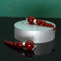 NEW OLYMPIA Earrings - RED AGATE