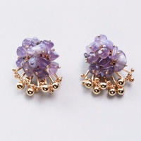 Aria Earrings - PURPLE CHALCEDONY