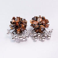 Aria Earrings - TIGER'S EYE