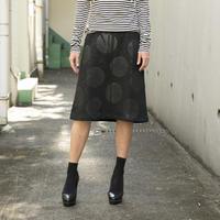 高蔵染ドットAラインスカート/163K074(C.ブラック×ブラック)