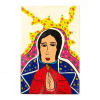 ヘススさんの祈りを捧げる女性