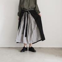 17-0012  Linen Stripe Skirt
