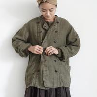 18-0039  硫化染め Linen Patissier Jacket / KHAKI