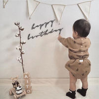 happy birthday set(color grey / taupe/ moss)