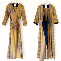 BOUTIQUE stripe cotton dress TE-3401   BEIGE STRIPE