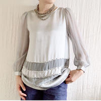 【BOUTIQUE  】silk x pearl tops