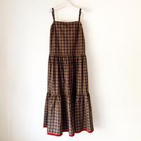 終了しました【予約販売】BOUTIQUE  cotton check dress TE-3606(コットン/チェック)